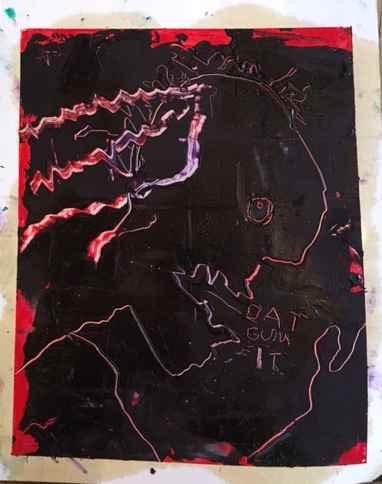 Dat Gum It Red Figure  by  James Havard
