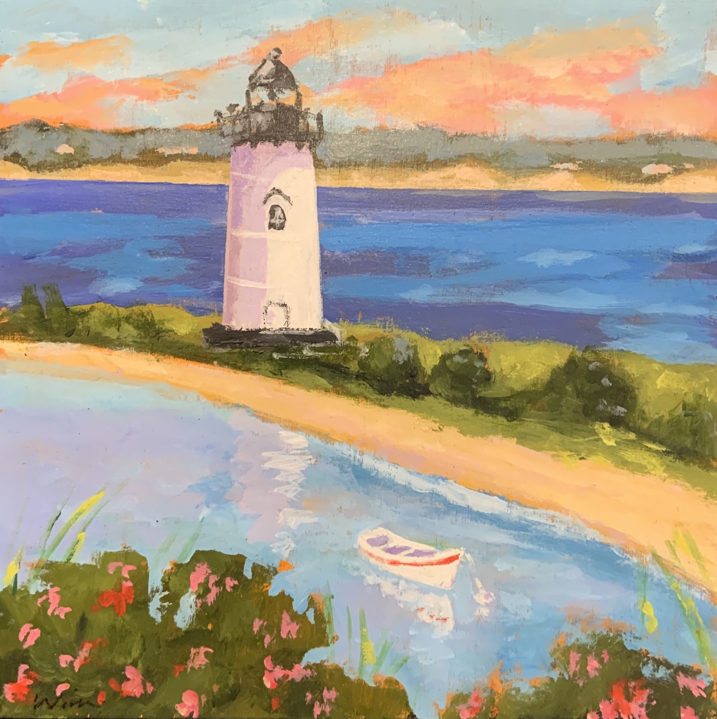 Sunset at the Lightho... by  Kate Winn - Masterpiece Online