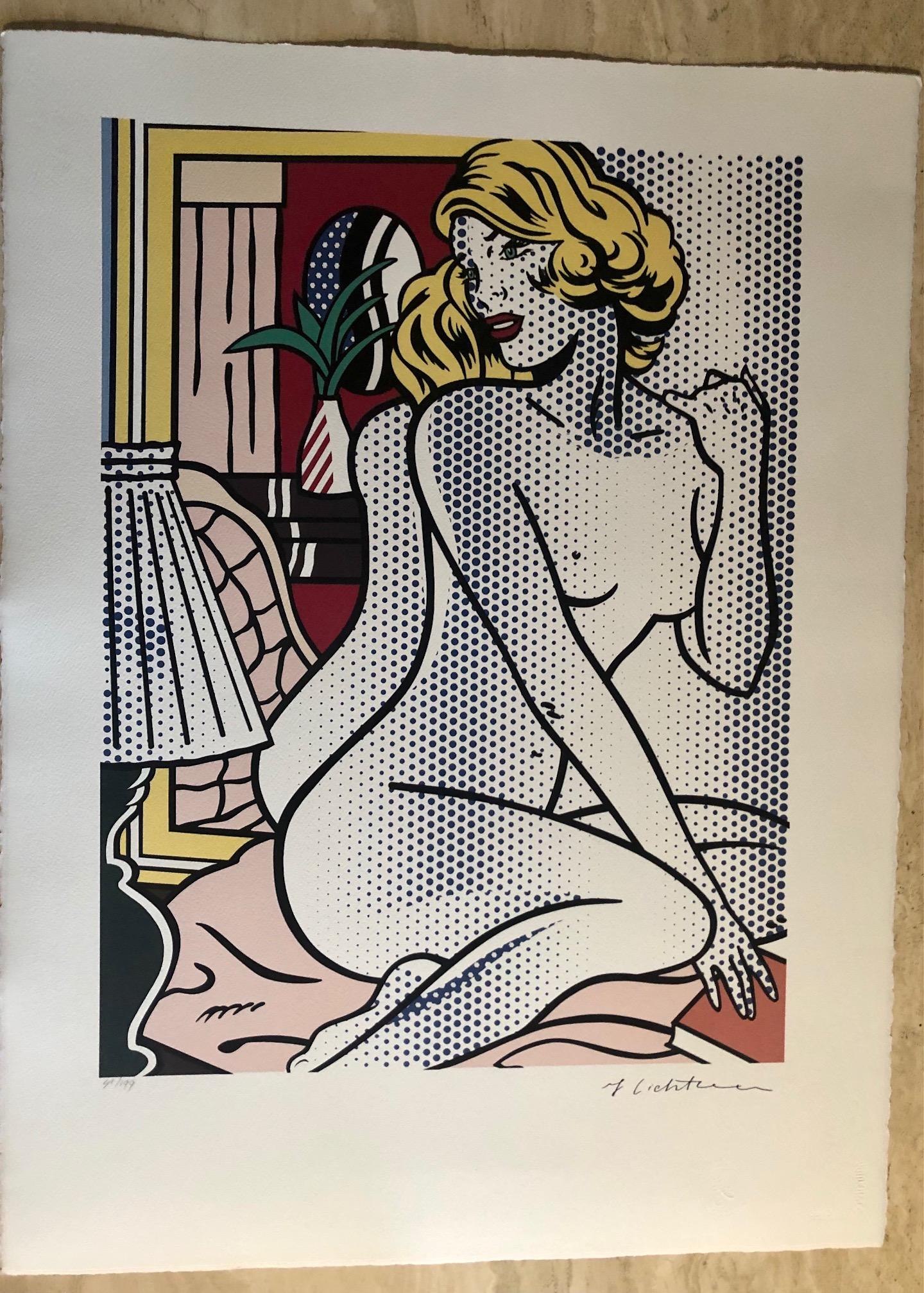 Blue Nude (Reproducti... by  Roy Lichtenstein - Masterpiece Online
