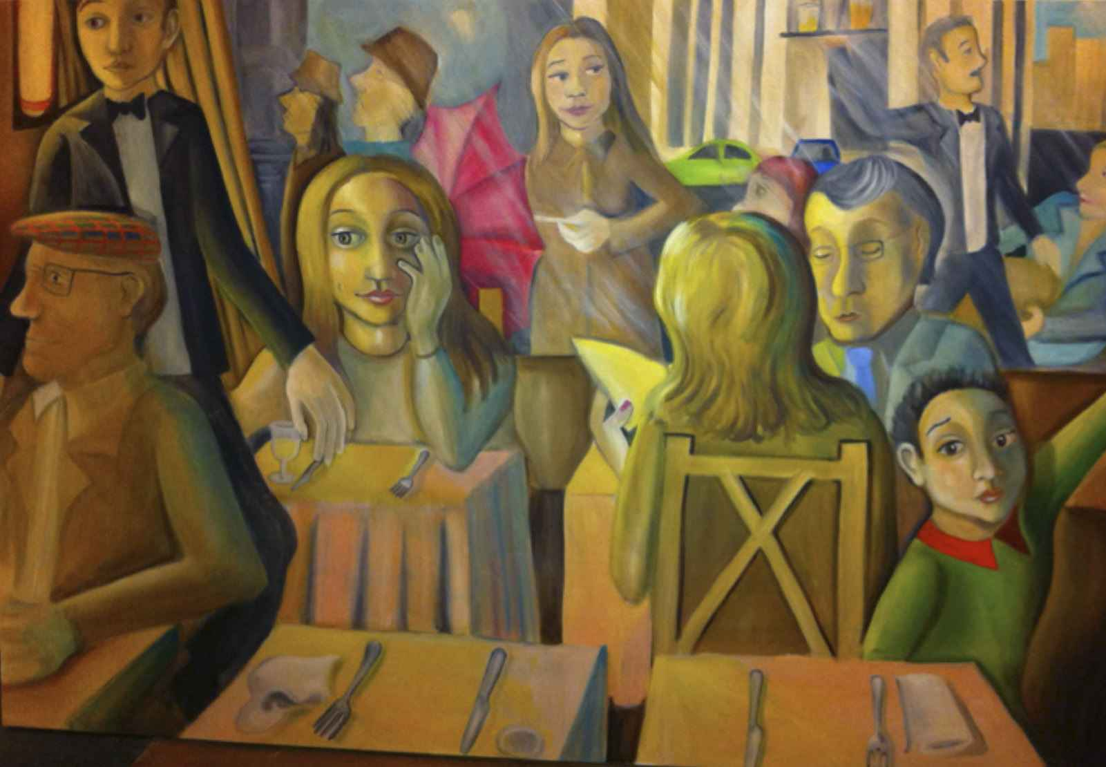 Café à Trocadéro by Ms. Rebecca Vincenzi - Masterpiece Online