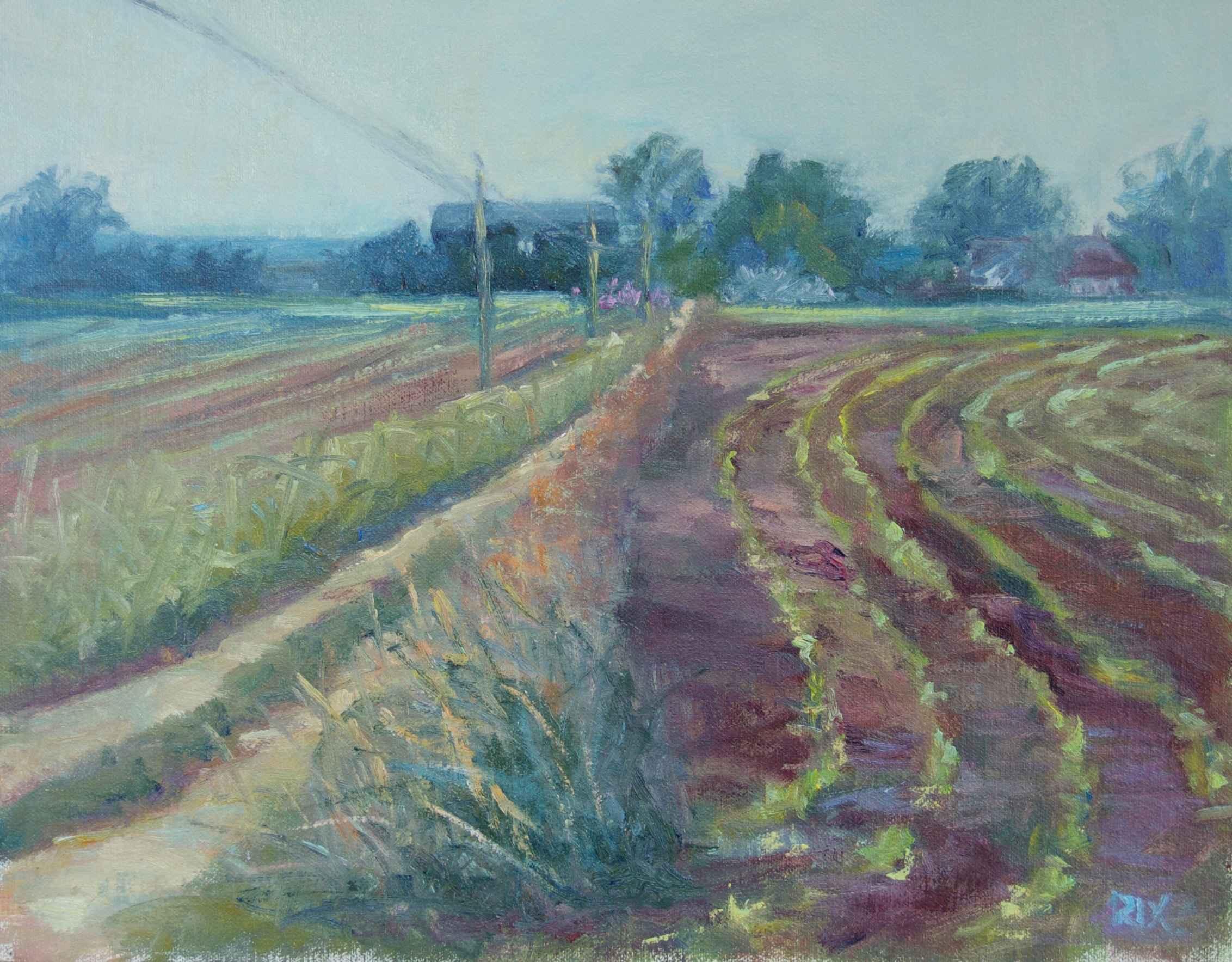 Lake Michigan Farm by  Lynn Rix - Masterpiece Online