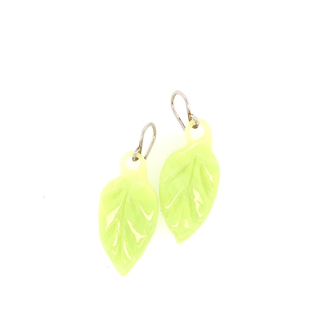 Pistachio Leaf Earrings
