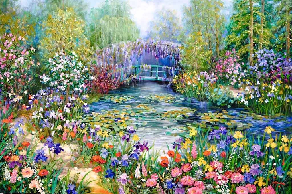 Monet's Pond and Japa... by  Tinyan Chan - Masterpiece Online