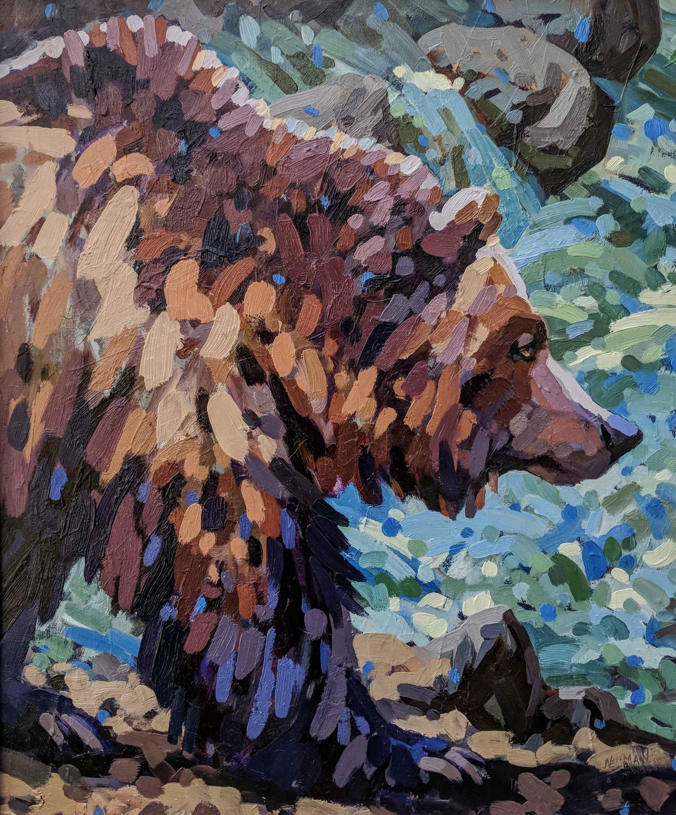 The Salmon Hunter by  Erica Neumann - Masterpiece Online