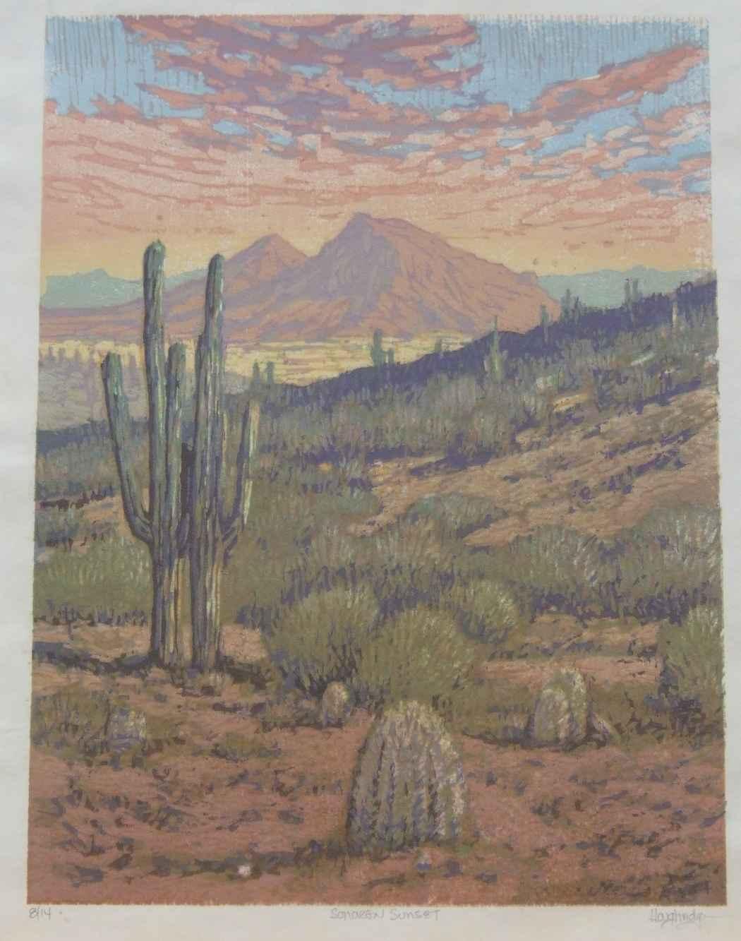 Sonoran Sunset by  Leon Loughridge - Masterpiece Online