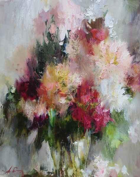 Pink Flowers by  Nikolai  Blokhin  - Masterpiece Online