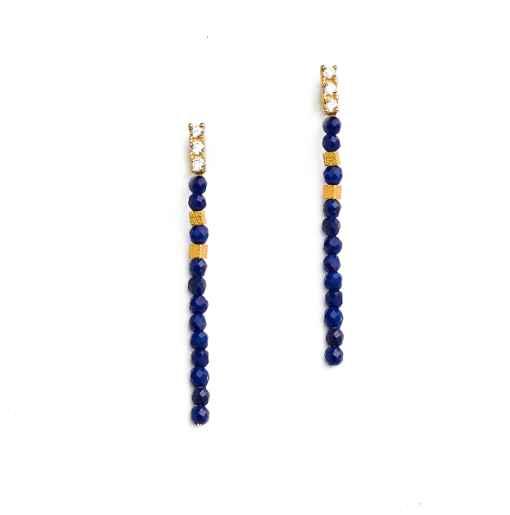 Yadi Lapis Earrings by  Bernd Wolf - Masterpiece Online