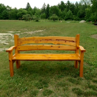 Garden Bench with Arm Rests, 5' Long