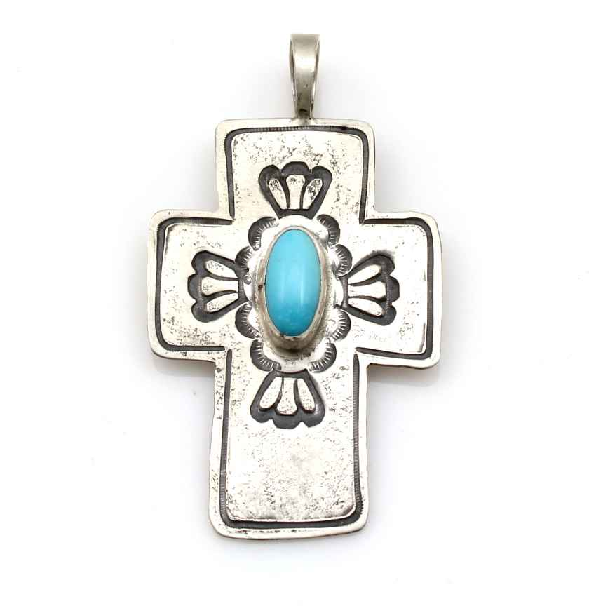 Turquoise Cross Penda... by  Don Lucas - Masterpiece Online