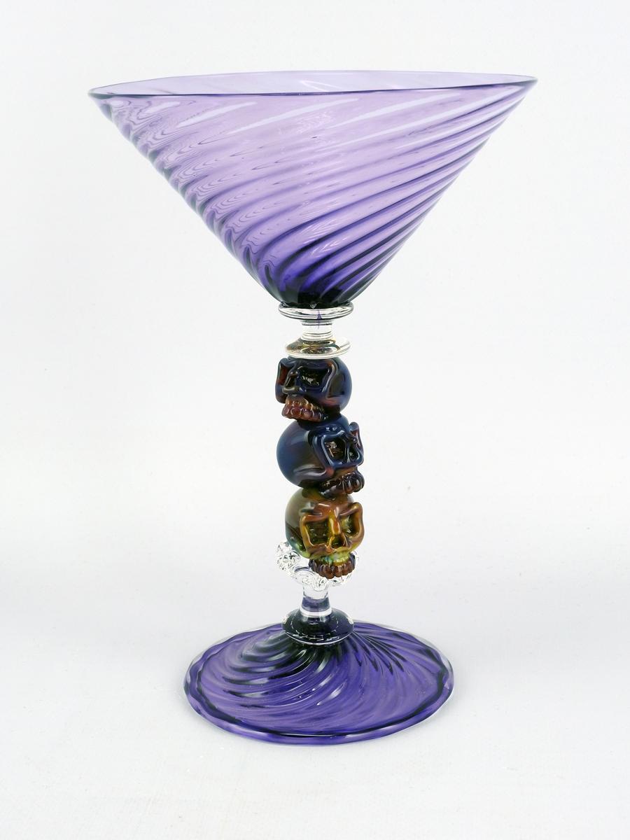 Skulltini/Purple by  Marc VandenBerg - Masterpiece Online