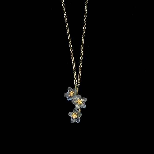 Forget Me Not Triple Flower Pendant 16