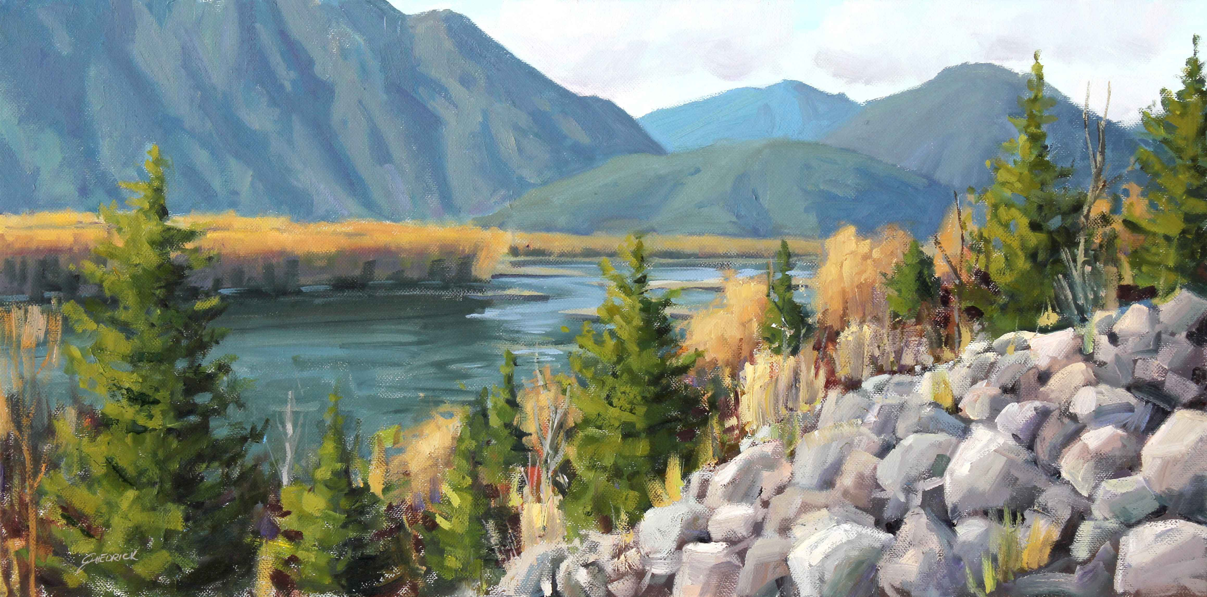 Hidden River Valley  by  Jessica Hedrick