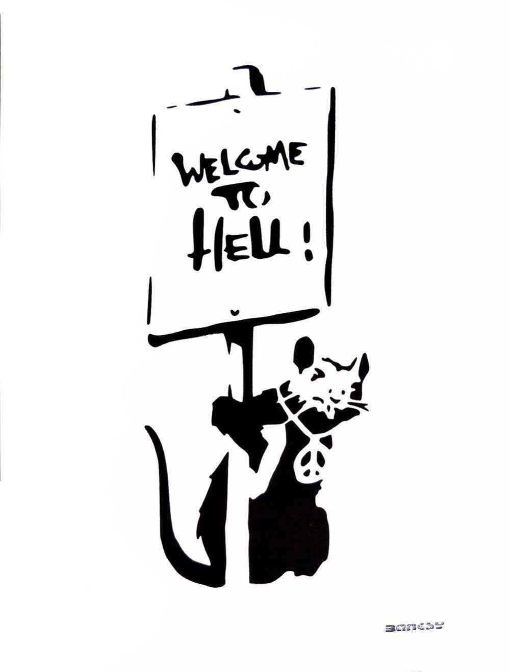 Welcome to Hell by   Banksy - Masterpiece Online