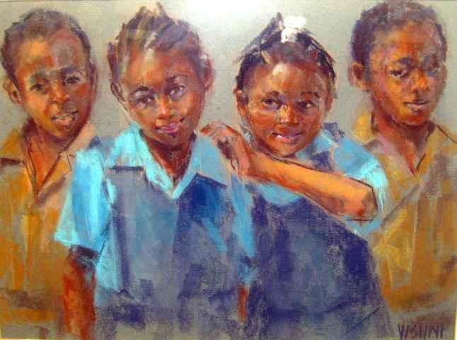 School Children by Mrs. Vishni Gopwani - Masterpiece Online