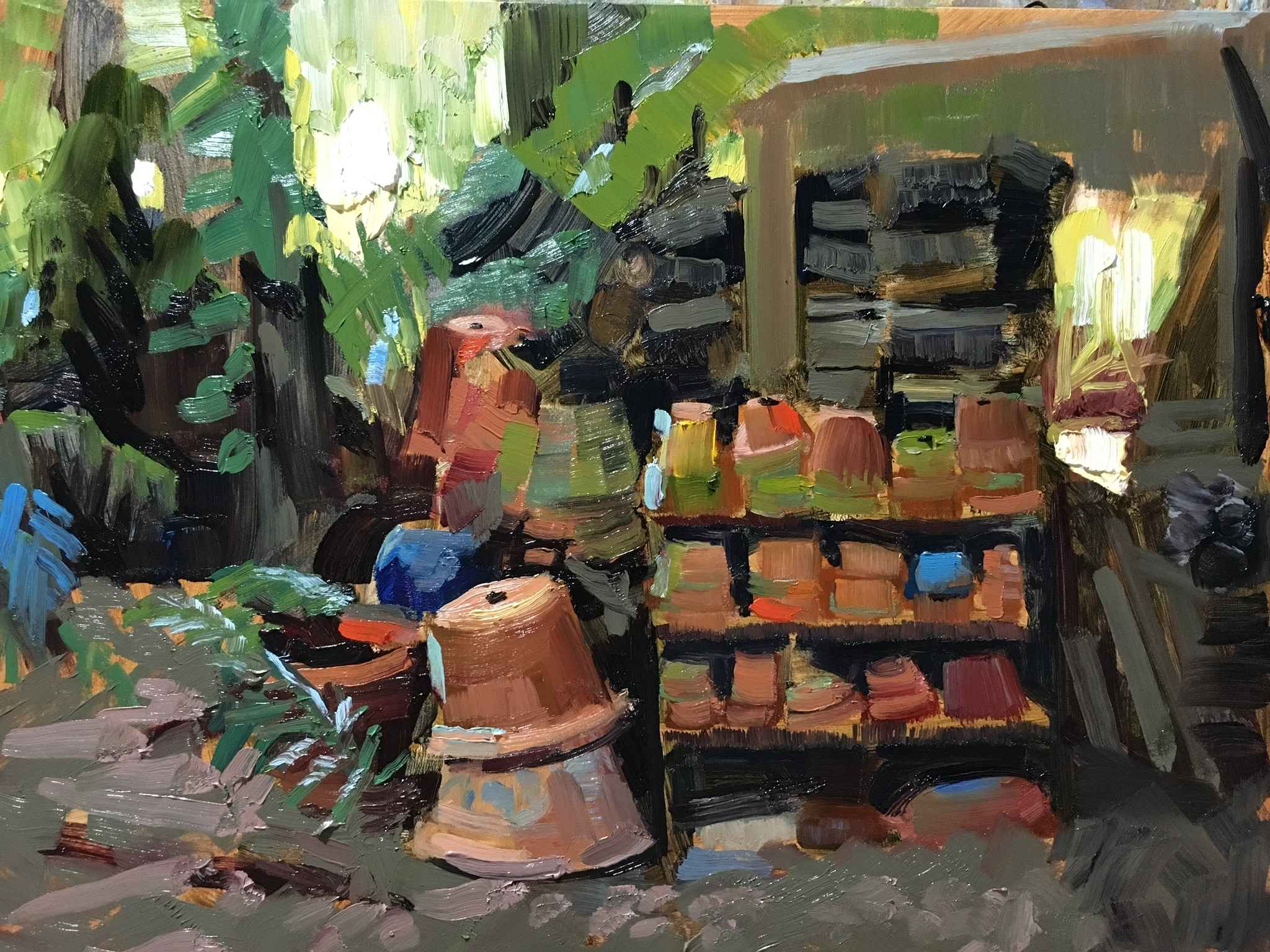 Potting and Wood Shed by  Heather Arenas - Masterpiece Online