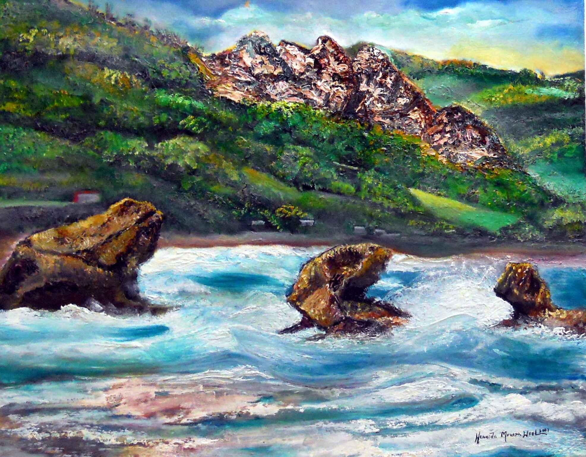 Bathsheba 1 24x30 by Mrs. Howaida Moussa-Weel - Masterpiece Online