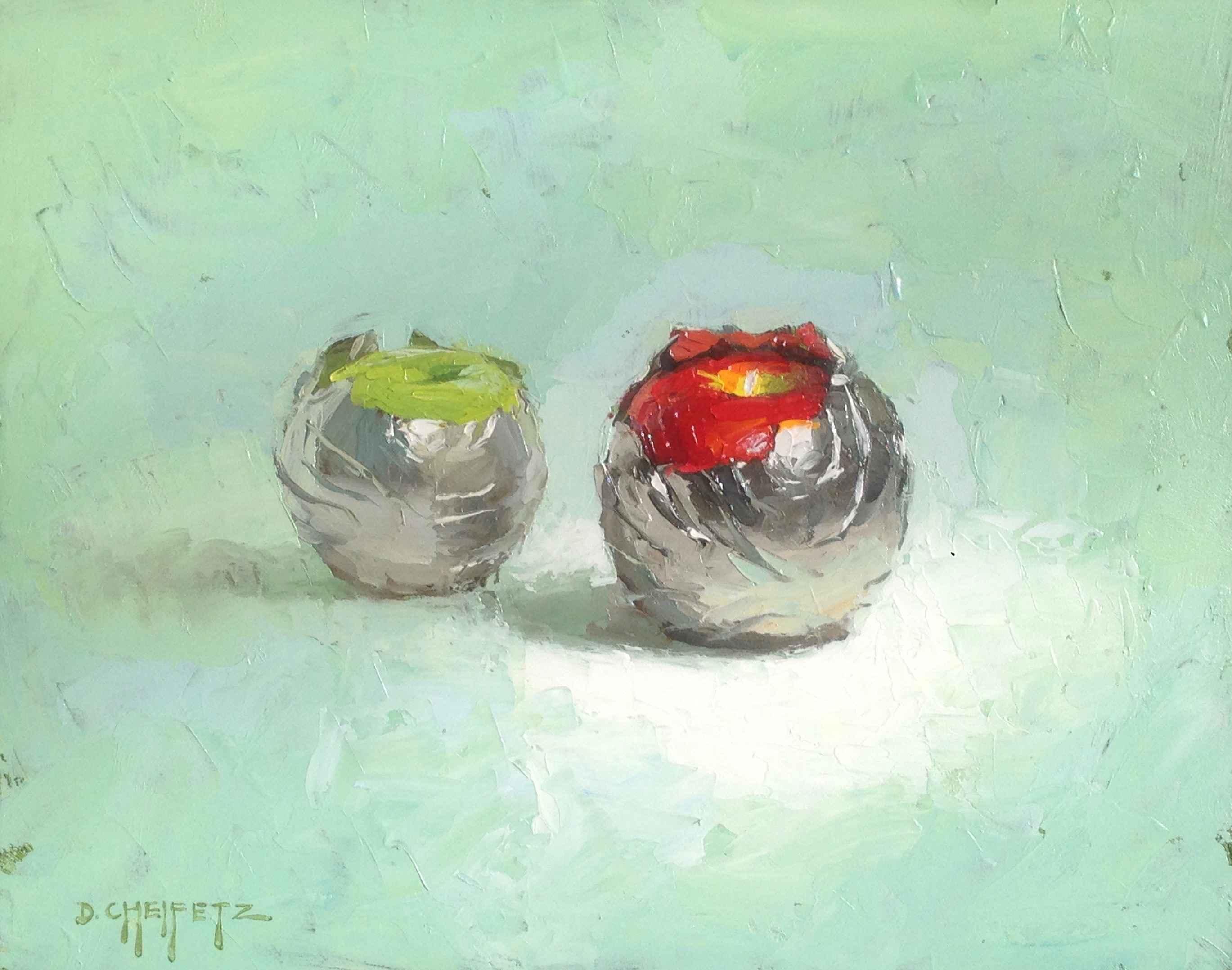 Two Apples in Foil by Mr. David Cheifetz - Masterpiece Online