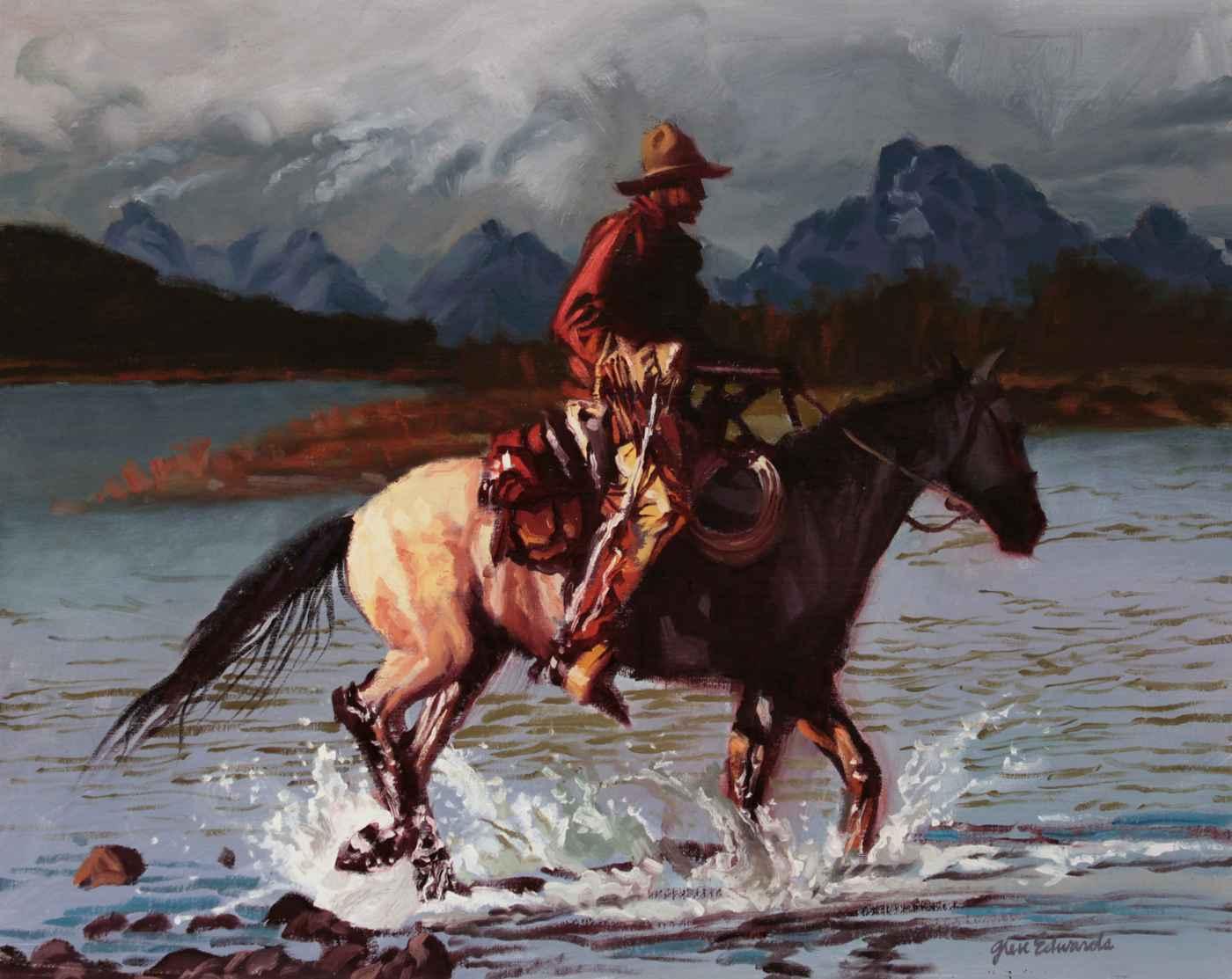 Distant Peaks by  Glen Edwards - Masterpiece Online