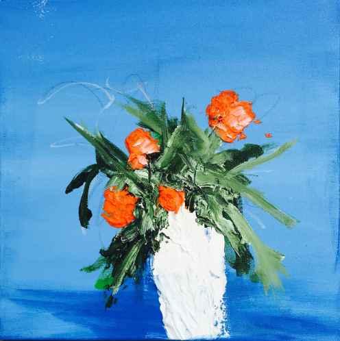 Blue Sky, Orange Flow... by  Steve Lyons - Masterpiece Online