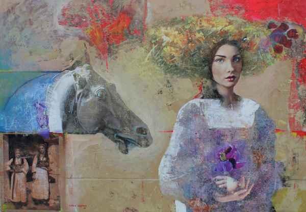 Lady and Horse by  Marko Kusmuk - Masterpiece Online
