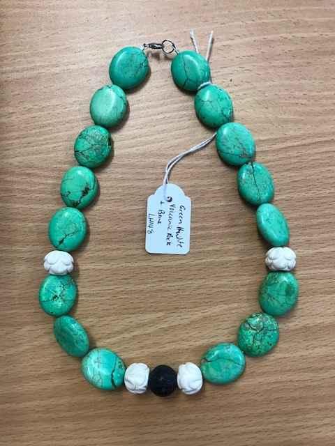 Green Howlite/Volcani... by Mrs Larissa Hale - Masterpiece Online