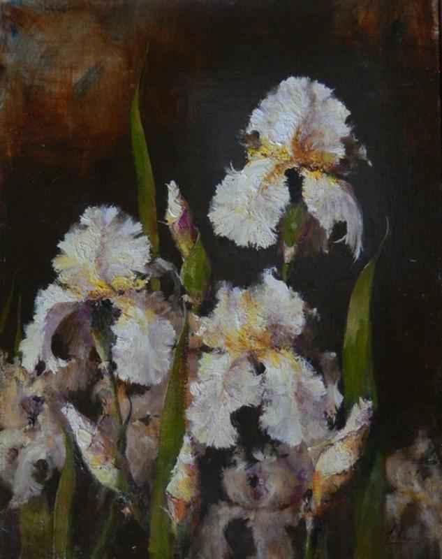 White Irises by  Robert A. Johnson, OPAM - Masterpiece Online