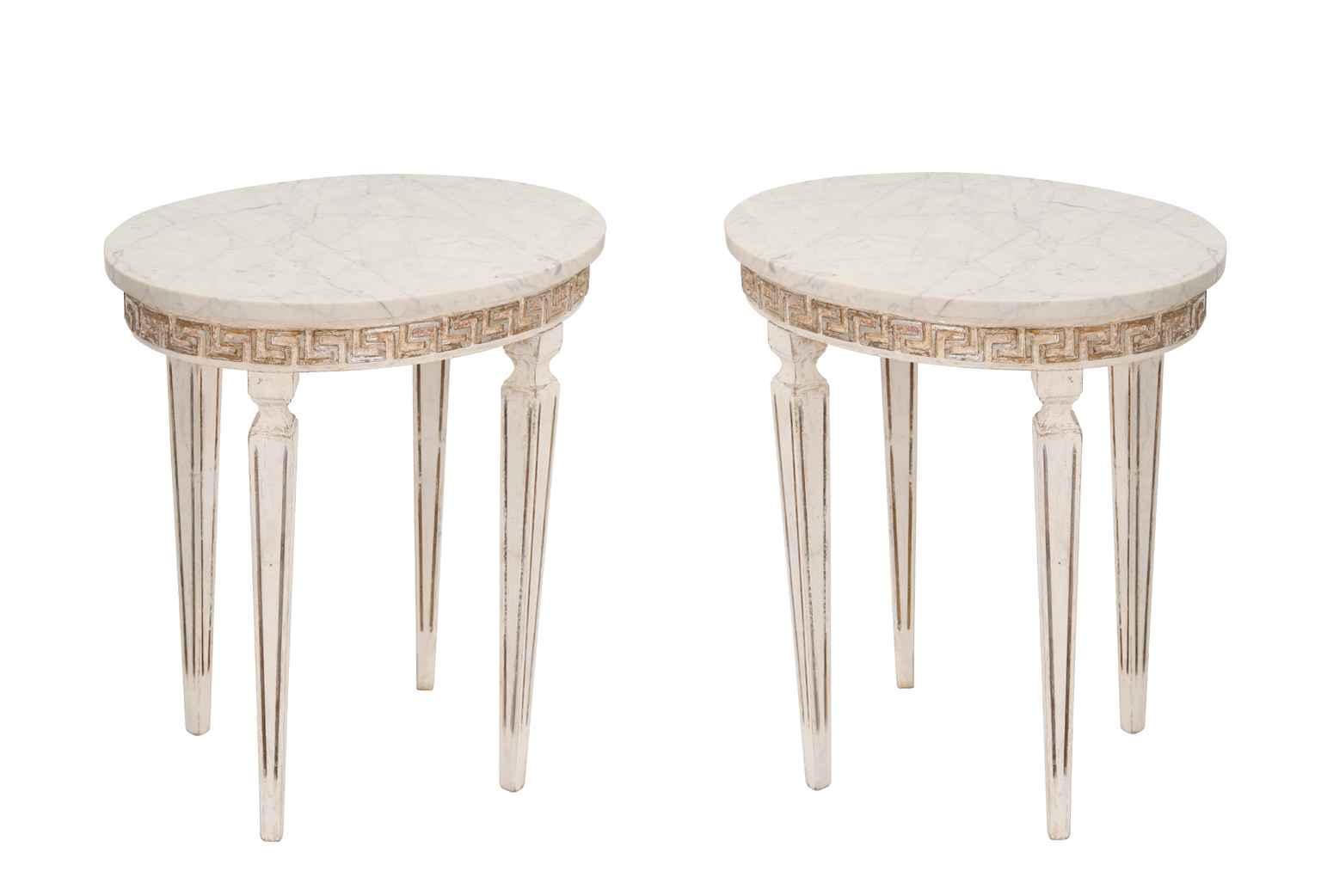 Pair of Marble Top It... by  Italian  - Masterpiece Online