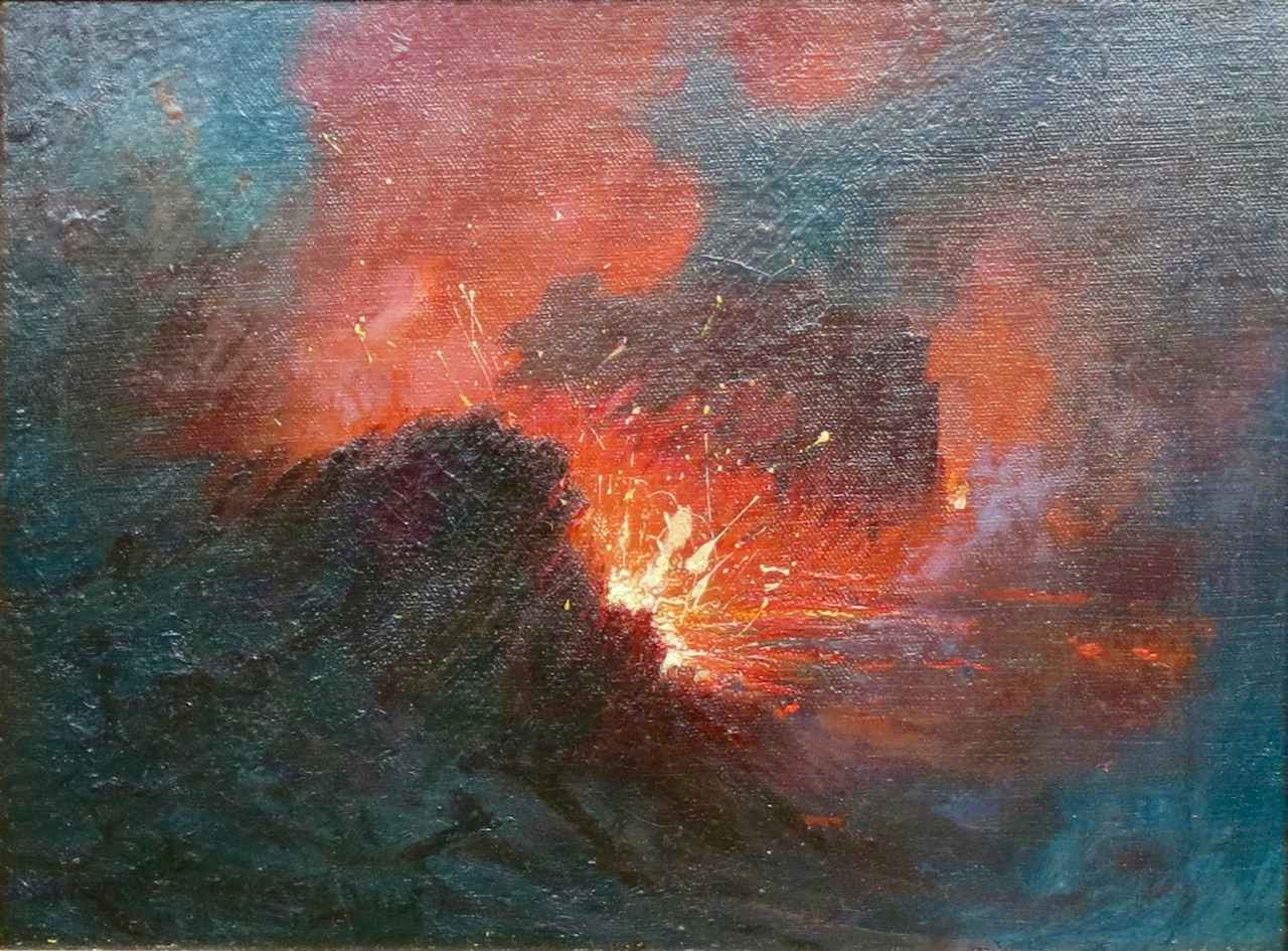 Eruption at Kilauea, ... by  David Howard Hitchcock (1861-1943) - Masterpiece Online