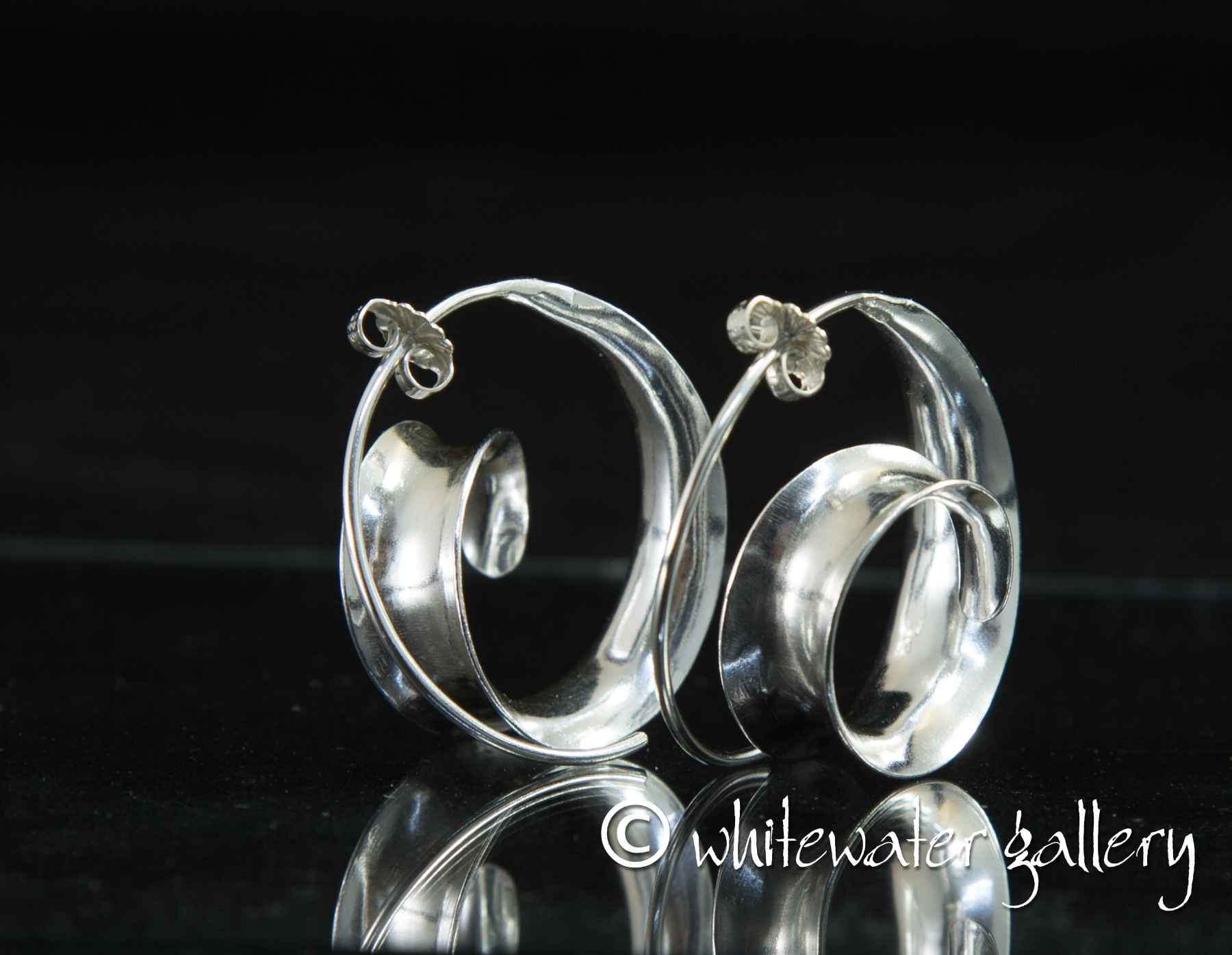 Spiral Wave Earrings by  Marsha Drew - Masterpiece Online
