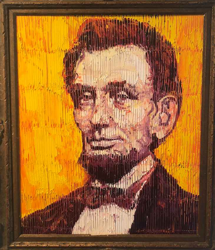 Abe Lincoln II represented  by  Hunt Slonem