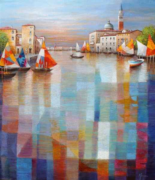 Colorful Sails by  Gabriella Mariani - Masterpiece Online