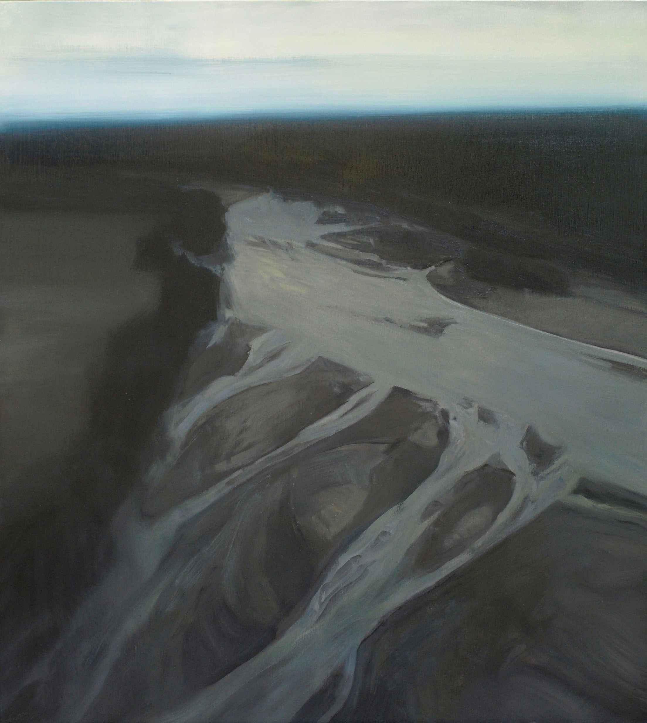 Flatwater -- Black by  Lisa Grossman - Masterpiece Online