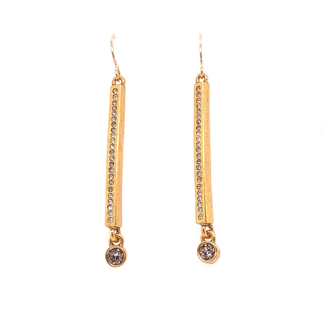 Axis Earrings in Gold, Champagne