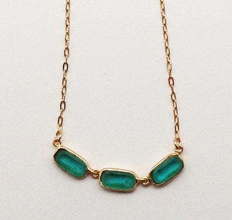 Small Rectangle Necklace 16 1/2
