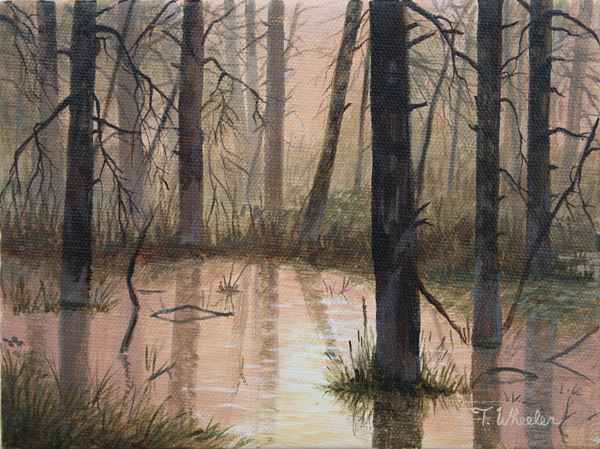 Swamp at Sunrise - St... by   Teresa  Wheeler - Masterpiece Online