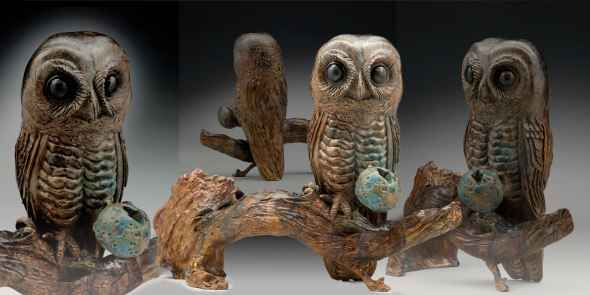 Owl Ate the Blue Moon... by  Alex Alvis - Masterpiece Online