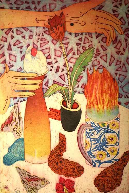 Hot Tea, Ice Cream by  Yuji Hiratsuka - Masterpiece Online