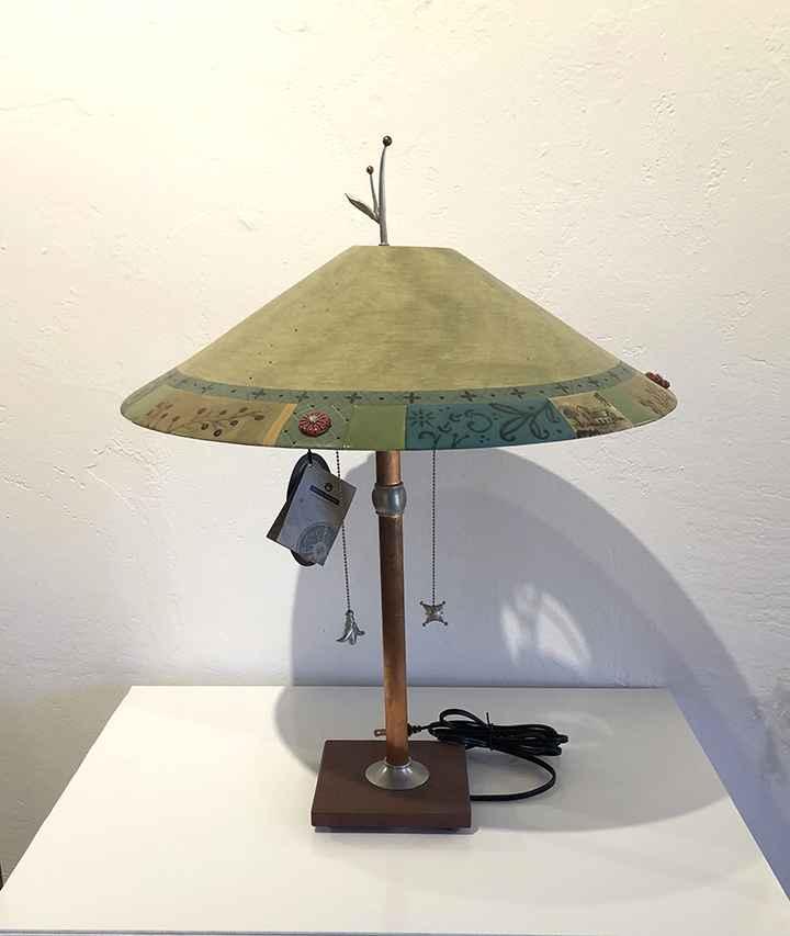 Venetian Leaf Table Lamp, Ceramic Shade