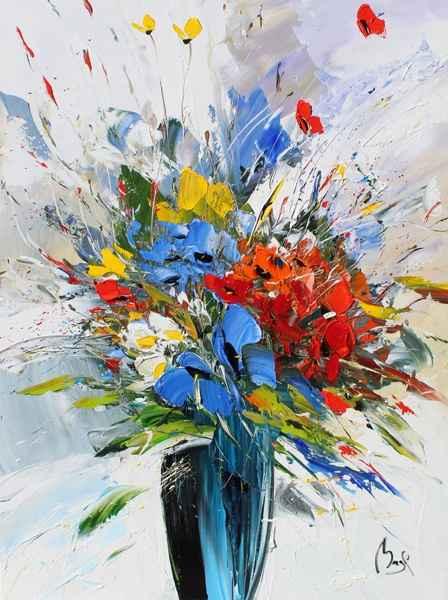 Bouquet with Blue Pop...