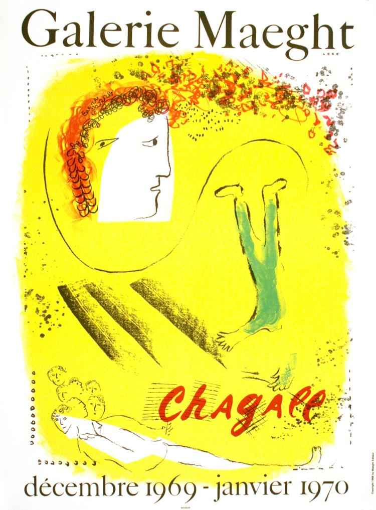 Yellow Background, Ga... by  Marc Chagall - Masterpiece Online