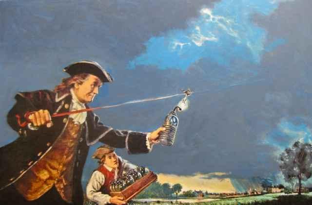 Ben Franklin by  Herb Kawainui Kane (1928-2011) - Masterpiece Online