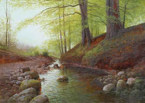 Forest Stream by  Alexander Popoff  - Masterpiece Online