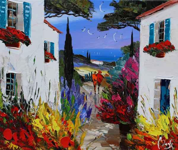 Twilight Walk by  Louis  Magre - Masterpiece Online
