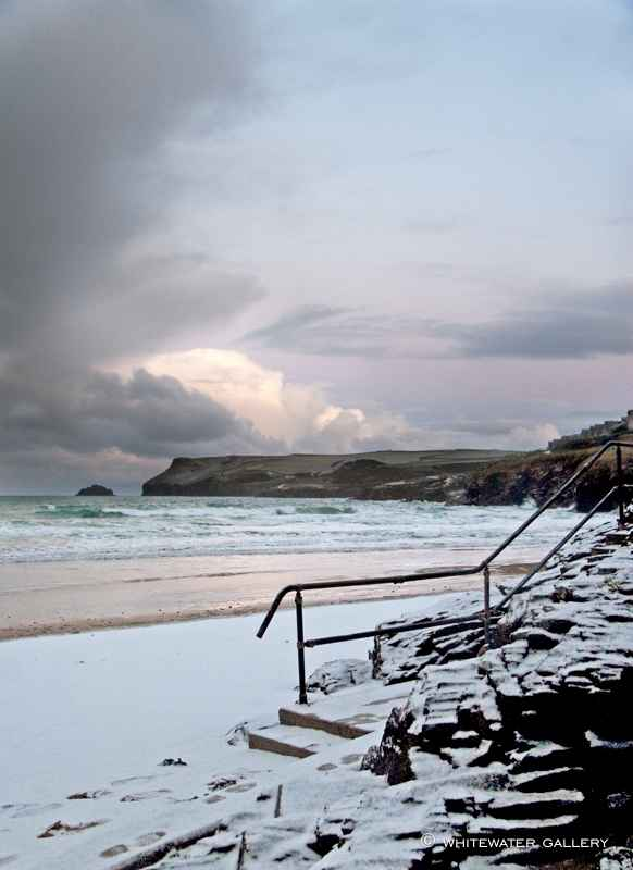 Winter Steps Polzeath by  Charity Christmas Cards - Masterpiece Online