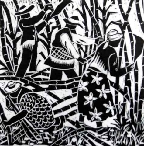 Cutting Sugar Cane by Mr. Clairmonte Mapp - Masterpiece Online