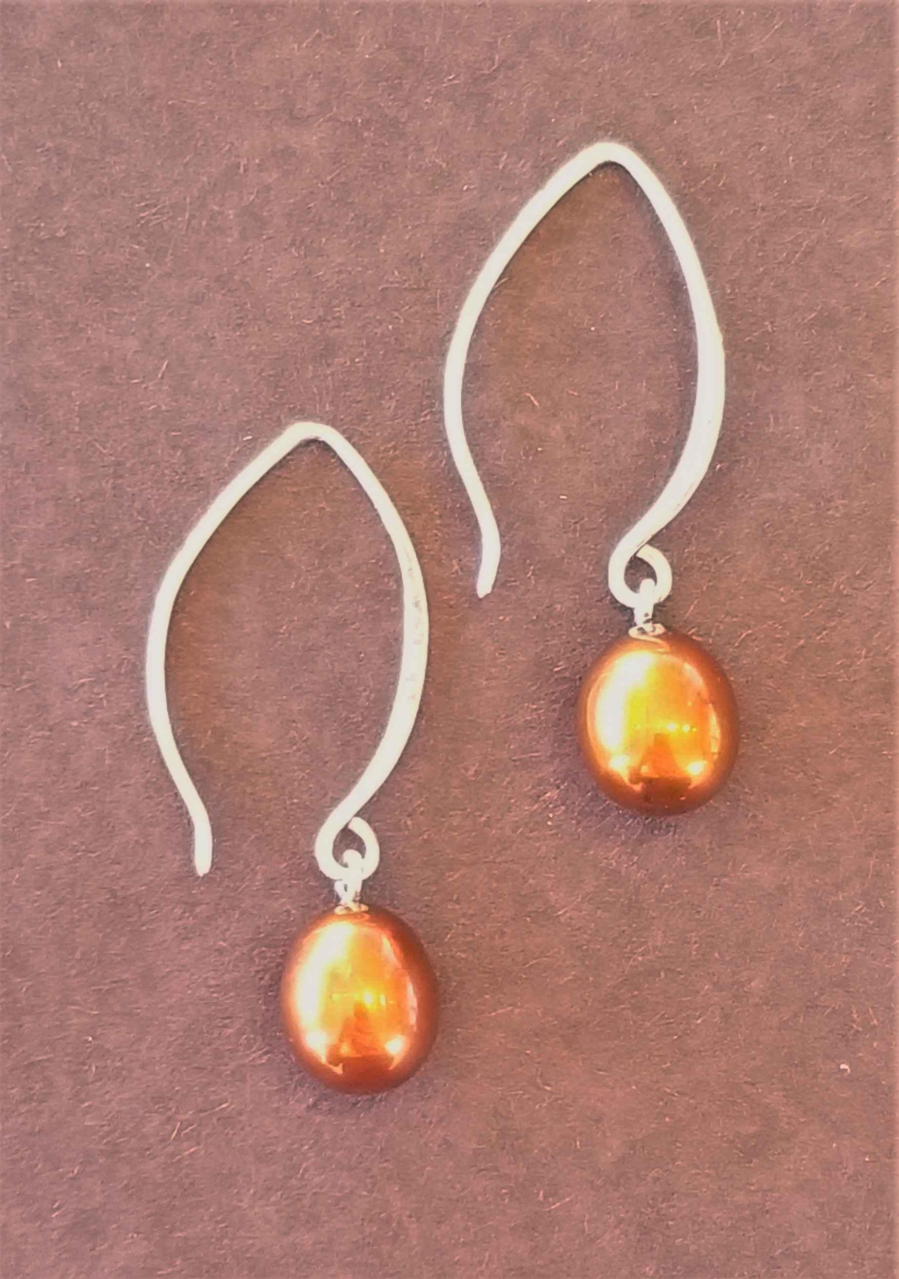 Brown Pearl Earrings by Ms. Catherine Laing - Masterpiece Online
