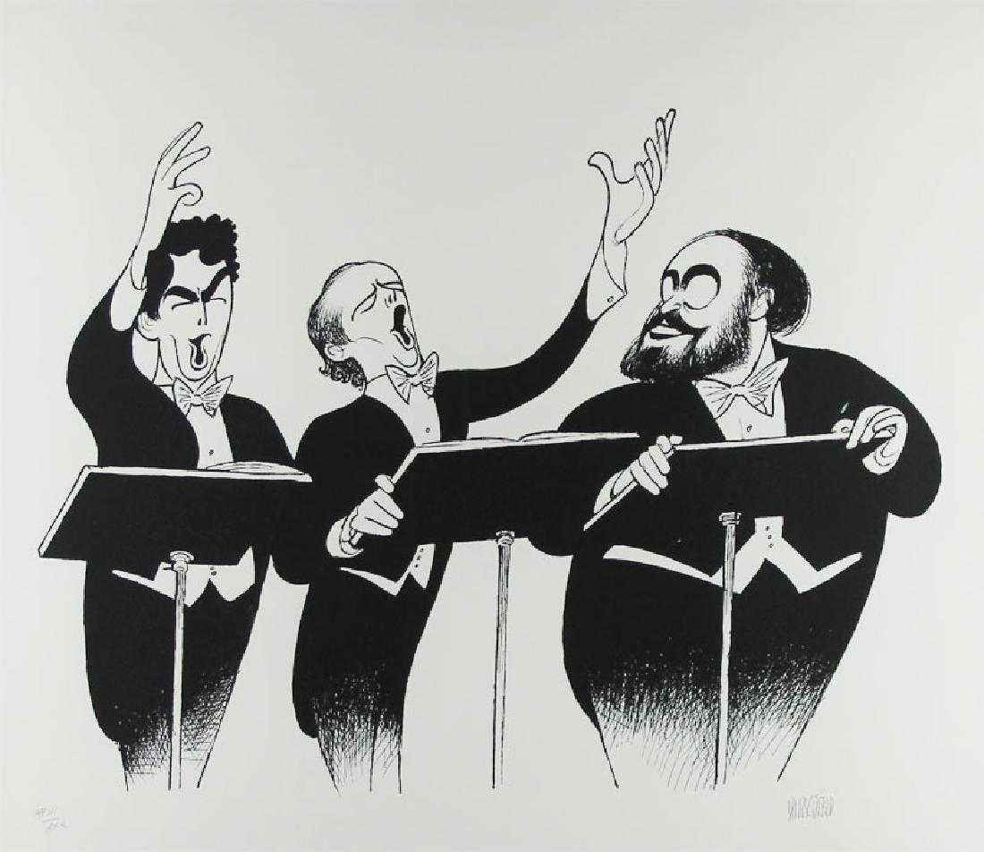 The Three Tenors 1996 by  Al Hirschfeld - Masterpiece Online