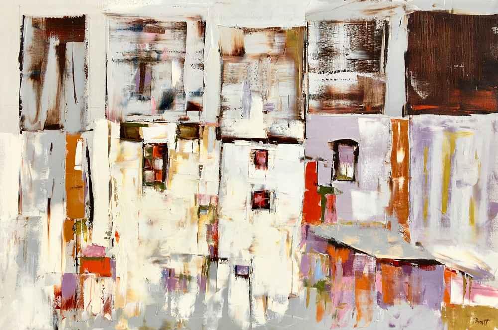 Pale Buildings  by  Sandra Pratt