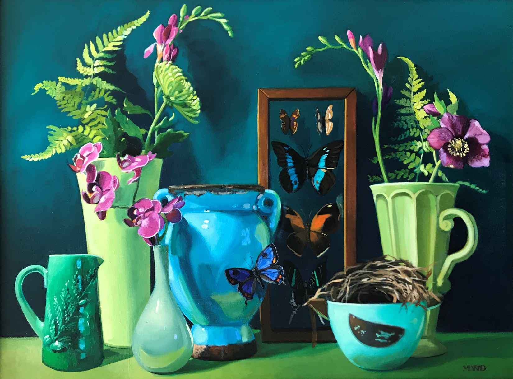 Lush Green and Violet by  Michelle Waldele - Masterpiece Online