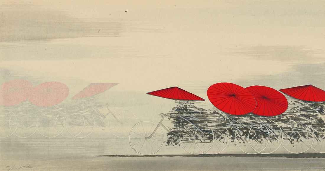 Wagasa-Red by  Shigeki Kuroda - Masterpiece Online